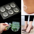 6x Silicone Gel Shoe Insole Inserts Pad Cushion Foot Care Heel Grips Liner