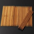 55Pcs 5'' 13cm 11Sizes Double Pointed Carbonized Bamboo Knitting Needles
