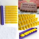 Alphabet Letter Number Biscuit Cookie Cutter Press Stamp Embosser Cake Mould