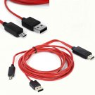 MHL Micro USB to HDMI 1080P HDTV Cable Adapter for Samsung Galaxy S5 S4 Note2/3