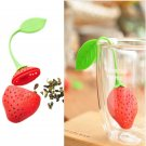 2 x Silicon Strawberry Design Tea Leaf Strainer Herbal Spice Infuser Tea Filter