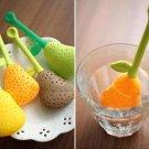 2 x Silicone Pear Design Tea Leaf Strainer Herb Spice Infuser Teacup Pot Filter