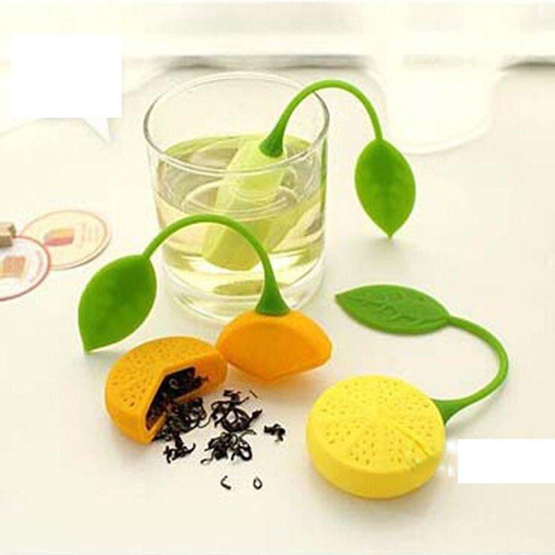 2 x Drinker Teapot Teacup Herb Tea Strainer Filter Infuser Bag Lemon Silicone