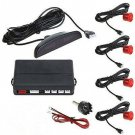 Red Car Parking Sensor Assistance Reverse Backup Radar Monitor System (TOM-parking sensor Red )