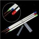 3X Nail Art Acrylic Tips Ongle Liner Drawing Brush Pen (BICP003078)