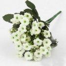 1 White Bouquet Artificial Orchid Silk Flower Leaf Home Decor (301246432698)