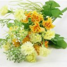 Yellow Artificial Chrysanthemum Carnation 23 Head Flower Bush Bouquet Home Wedding(291193054339)