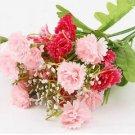 Pink Artificial Chrysanthemum Carnation 23 Head Flower Bush Bouquet Home Wedding(291193054339)