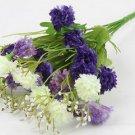 Blue Artificial Chrysanthemum Carnation 23 Head Flower Bush Bouquet Home Wedding(291193054339)