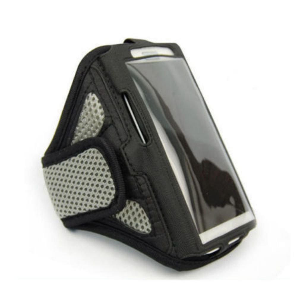 """Silver For iPhone 6 4.7"""" Sports Running Cycling Mesh Armband Phone Case Cover"""