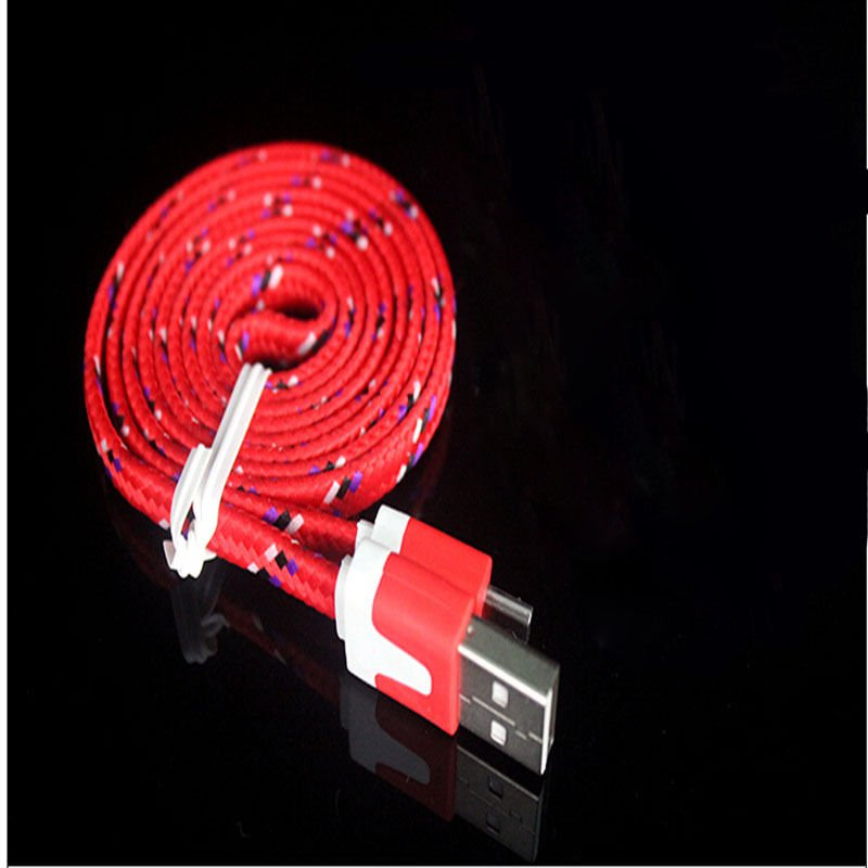 Red Braided 3FT/1M Micro USB Cable For Galaxy S4 3 2 Note II Dealsbest