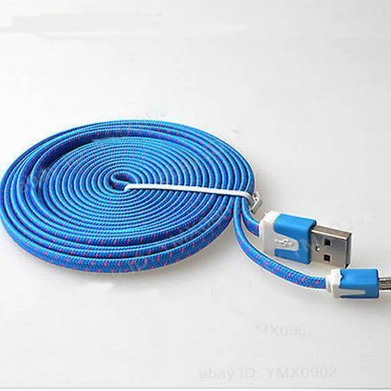 Blue Braided 3FT/1M Micro USB Cable For Galaxy S4 3 2 Note II Dealsbest