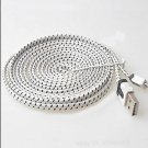 White Braided 9FT/3M Micro USB Cable For Galaxy S4 3 2 Note II Dealsbest