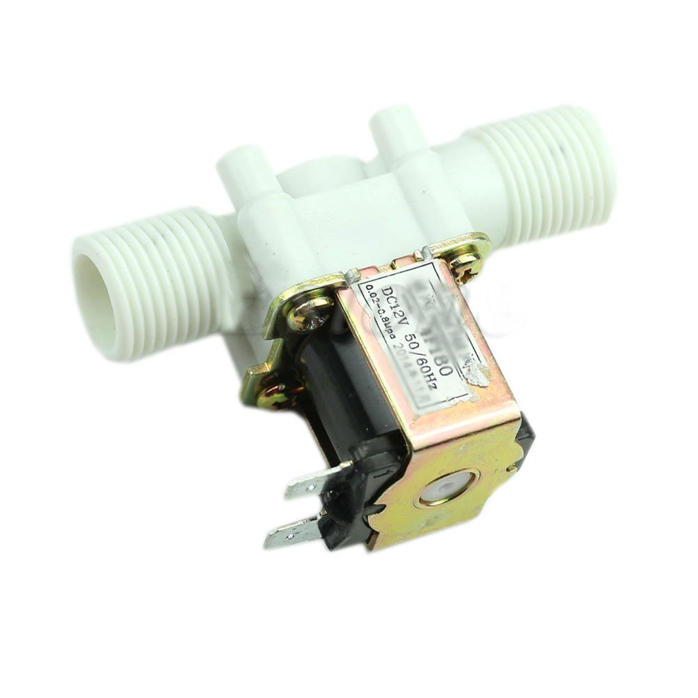 """12V Electric Solenoid Valve Magnetic DC N/C Water Air Inlet Flow Switch 1/2"""" Dealsbest"""