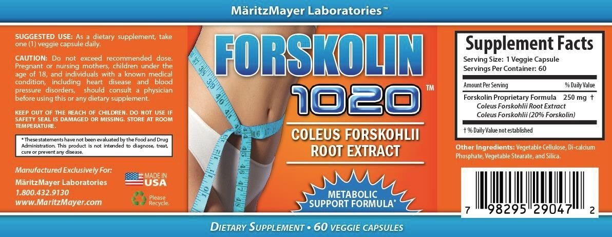 FORSKOLIN EXTRACT 100% PURE COLEUS FORSKOHLII 250mg 20% - Weight Loss Pills x2