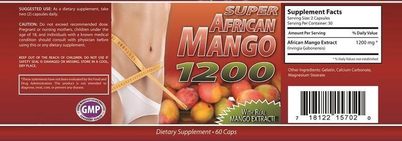 PURE AFRICAN MANGO 1200mg WEIGHT LOSS-BURN FAT-DIET PILLS