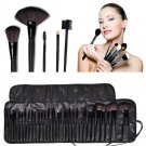 32pcs Professional Soft Cosmetic Eyebrow Shadow Makeup Brush Set Kit + Pouch Bag DB