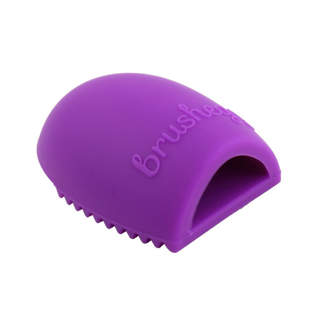 Cleaning Cosmetic Makeup Brush Foundation Brush Silicone Cleaner Tool Purple