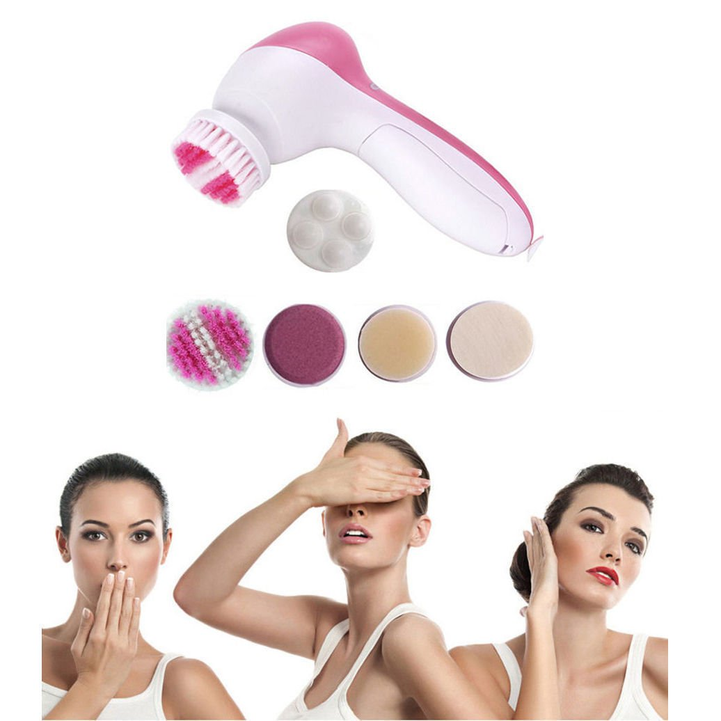 5-1 Multifunction Electric Face Facial Cleansing Brush Spa Skin massage