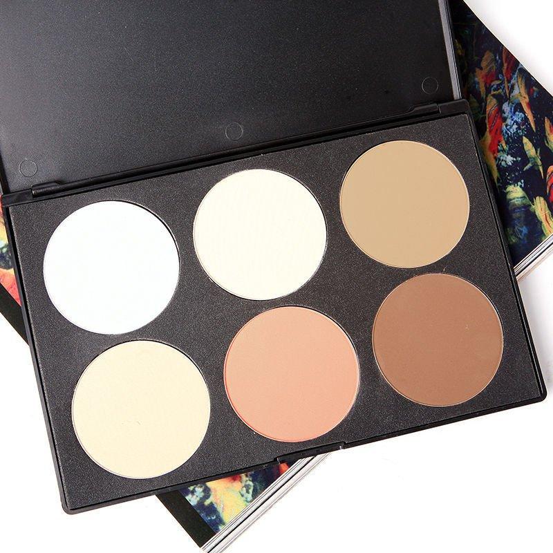 6 Color Makeup Cosmetic Blush Blusher Contour Palette Makeup Pressed Powder DB
