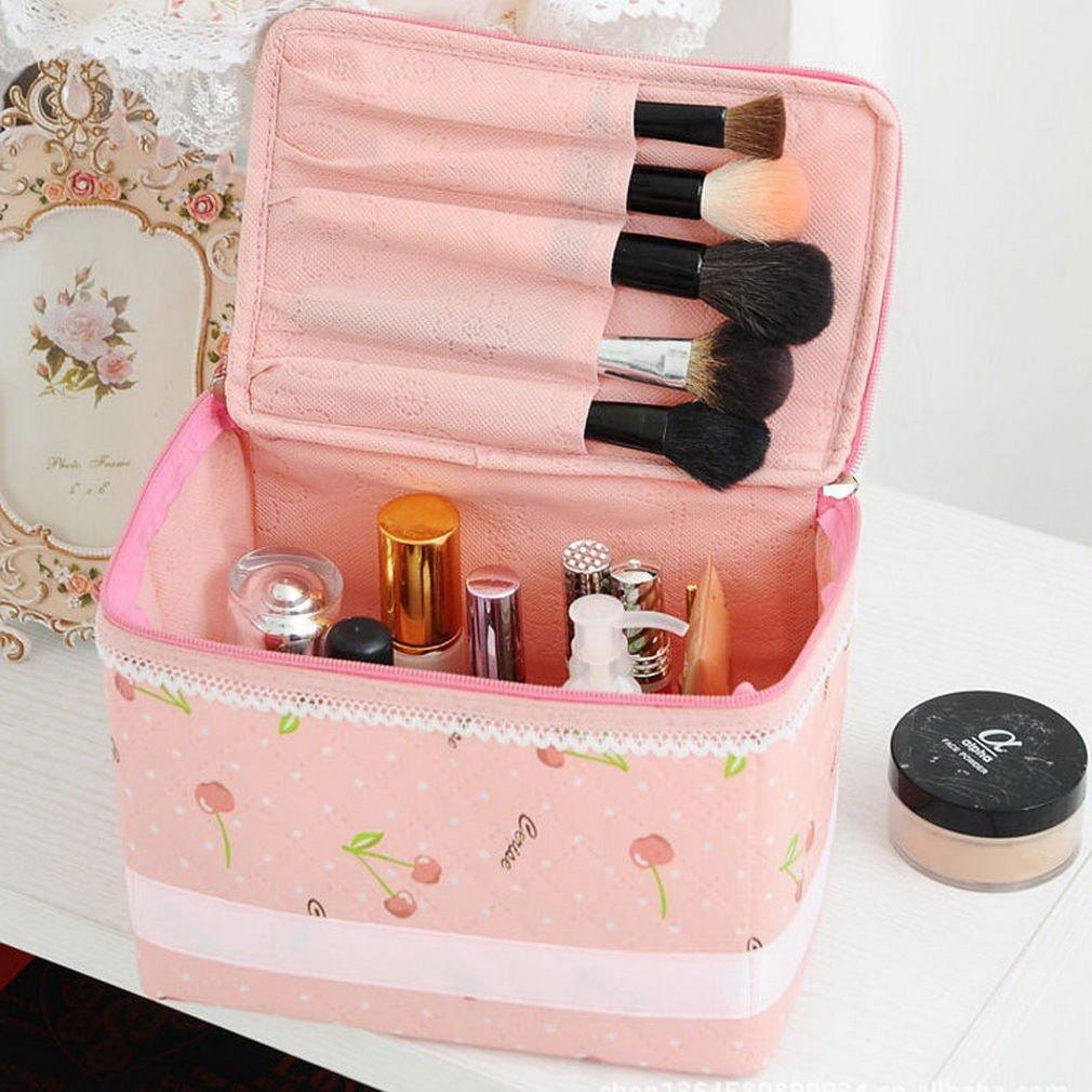 Makeup Cosmetic Case Toiletry Bag Cherry Travel Handbag Organizer DB