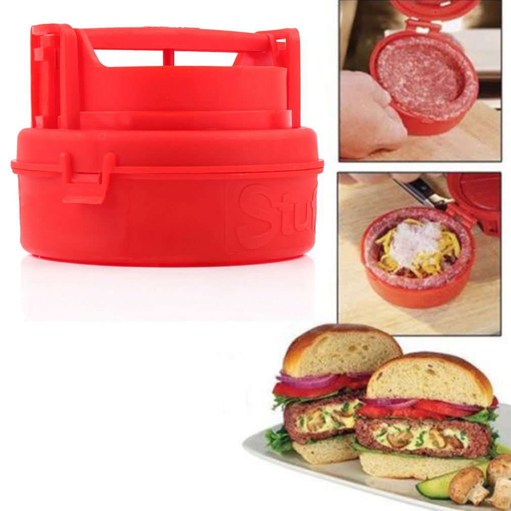 Stuffed Burger Press Hamburger Grill BBQ Patty Maker Juicy As Seen On TV DB