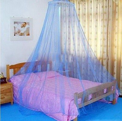 Blue 1PCS Elegant Round Lace Insect Bed Canopy Netting Curtain Dome Mosquito Net db
