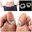 2pcs Magnet Lose Weight Healthy Slim Loss Toe Ring Sticker Silicon Foot Massager -Hang