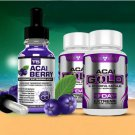 ACAI BERRY SERUM + ACAI GOLD DETOX- STRONGEST LEGAL ACAI SLIMMING / DIET PILLS