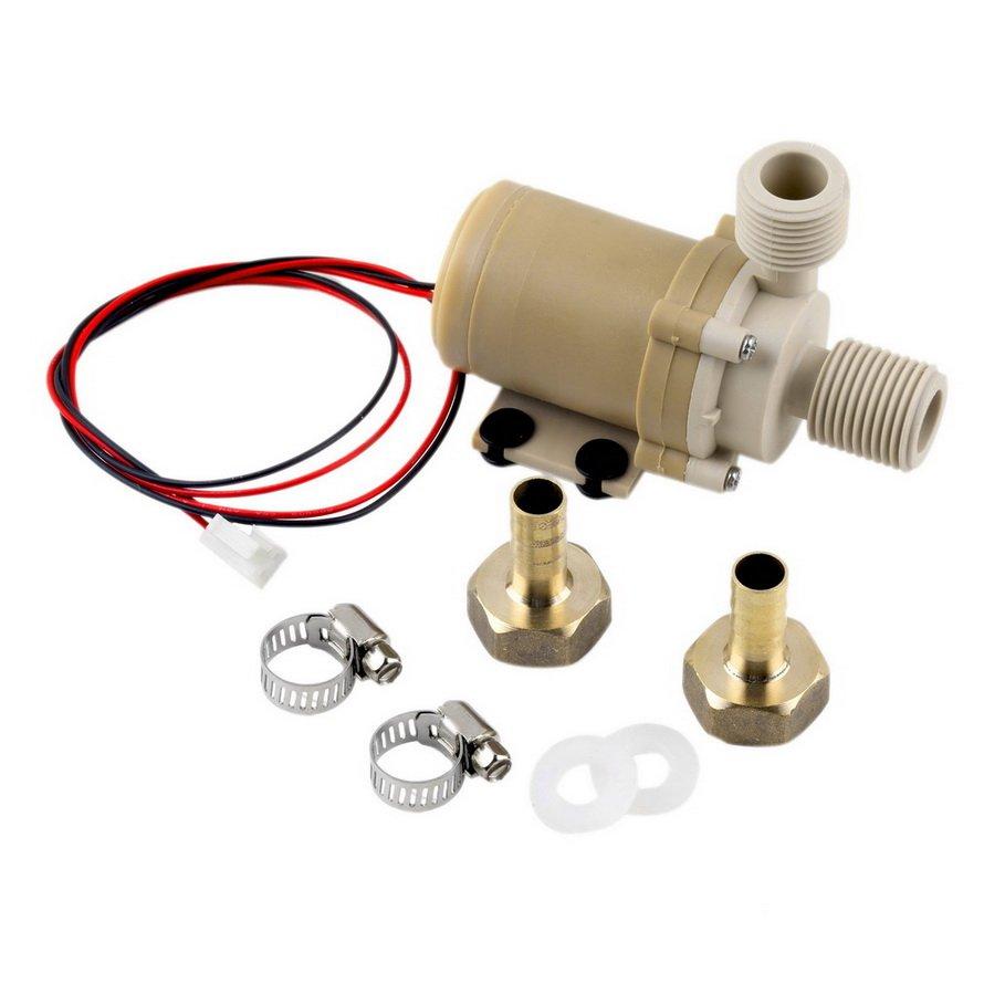12V 3M Solar Hot Water Pump Circulation Brushless Motor 212° F w/ Coupler DB