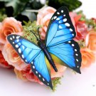 12pcs Blue 3D Butterfly Sticker Art Design Decal Wall Home Decor Room Decorations db