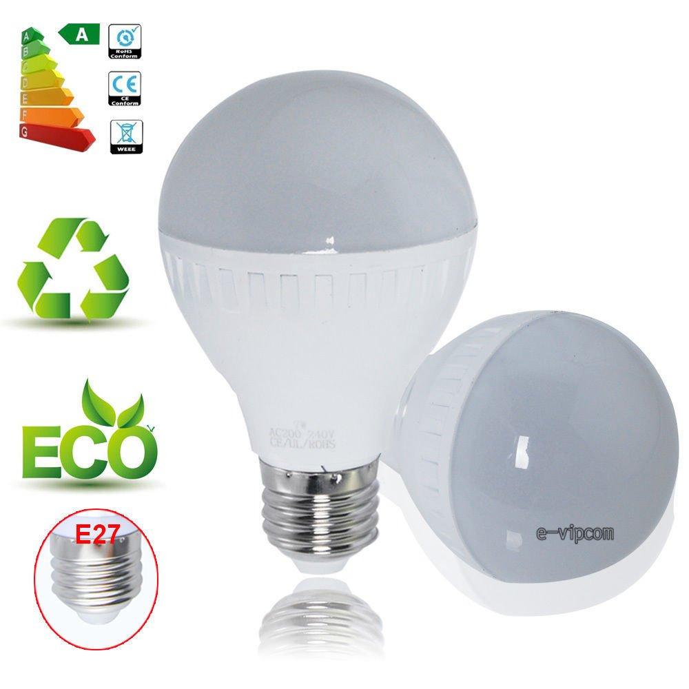 E27 3W Bright 2835SMD Globe Light LED Ball Lamp Bulb Energy Saving 85-265V Pure White db