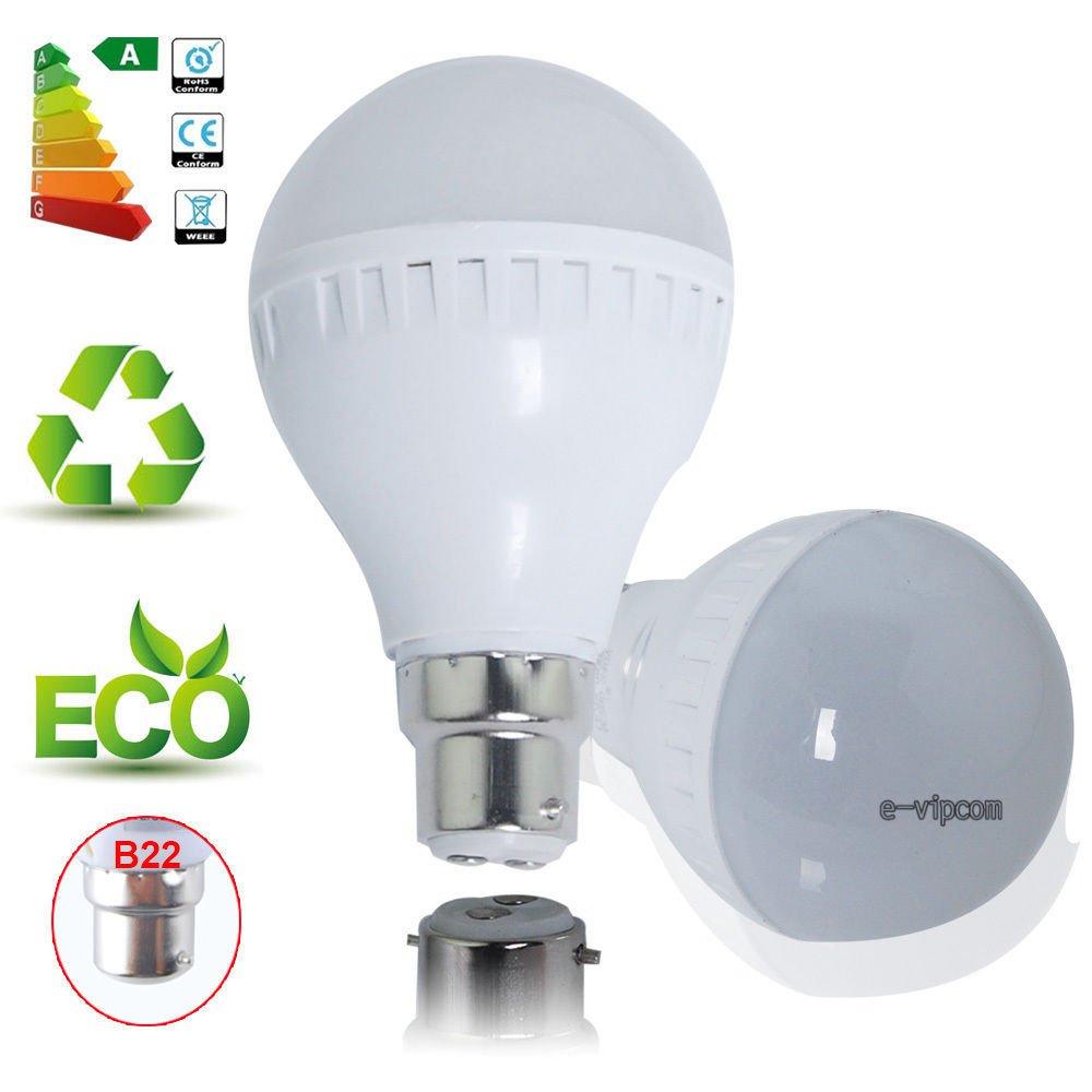 B22 5W Bright 2835 SMD Globe Light LED Ball Lamp Bulb Energy Saving 85-265V Pure White db