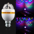 B22 3W RGB Crystal Ball Coloful Rotating LED Stage Light Bulbs Disco Party Lamp db