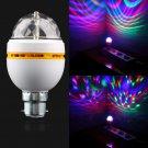 B22 3W RGB Crystal Ball Coloful Rotating LED Stage Light Bulbs Disco Party Lamp db