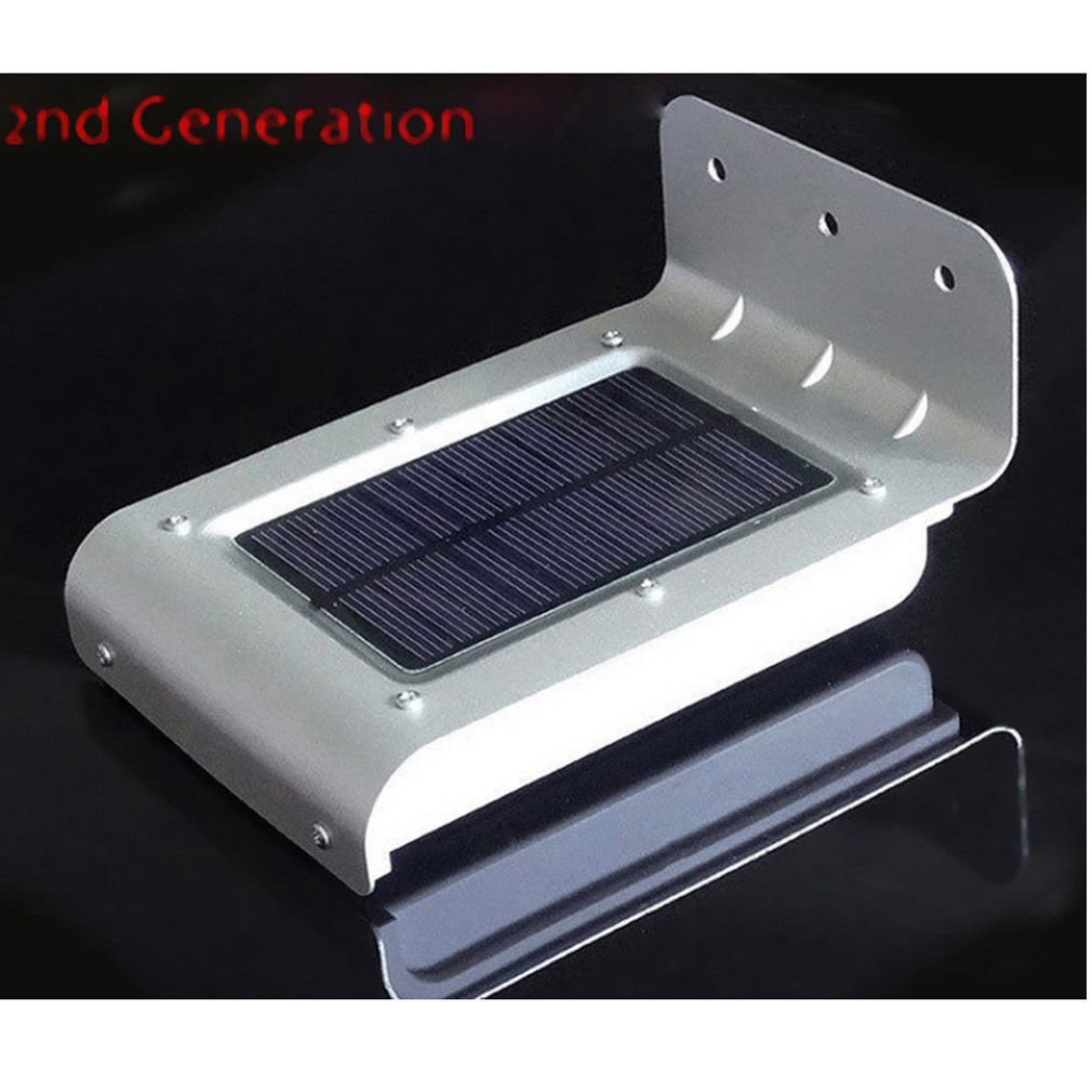 16 LED Solar Power Motion Sensor Security Lamp Outdoor Waterproof Light db