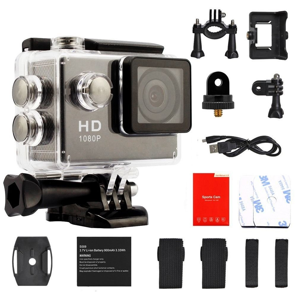 HD 1080P Waterproof Mini Sport Camera Helmet Action Car Camcorder as Gopro Black db