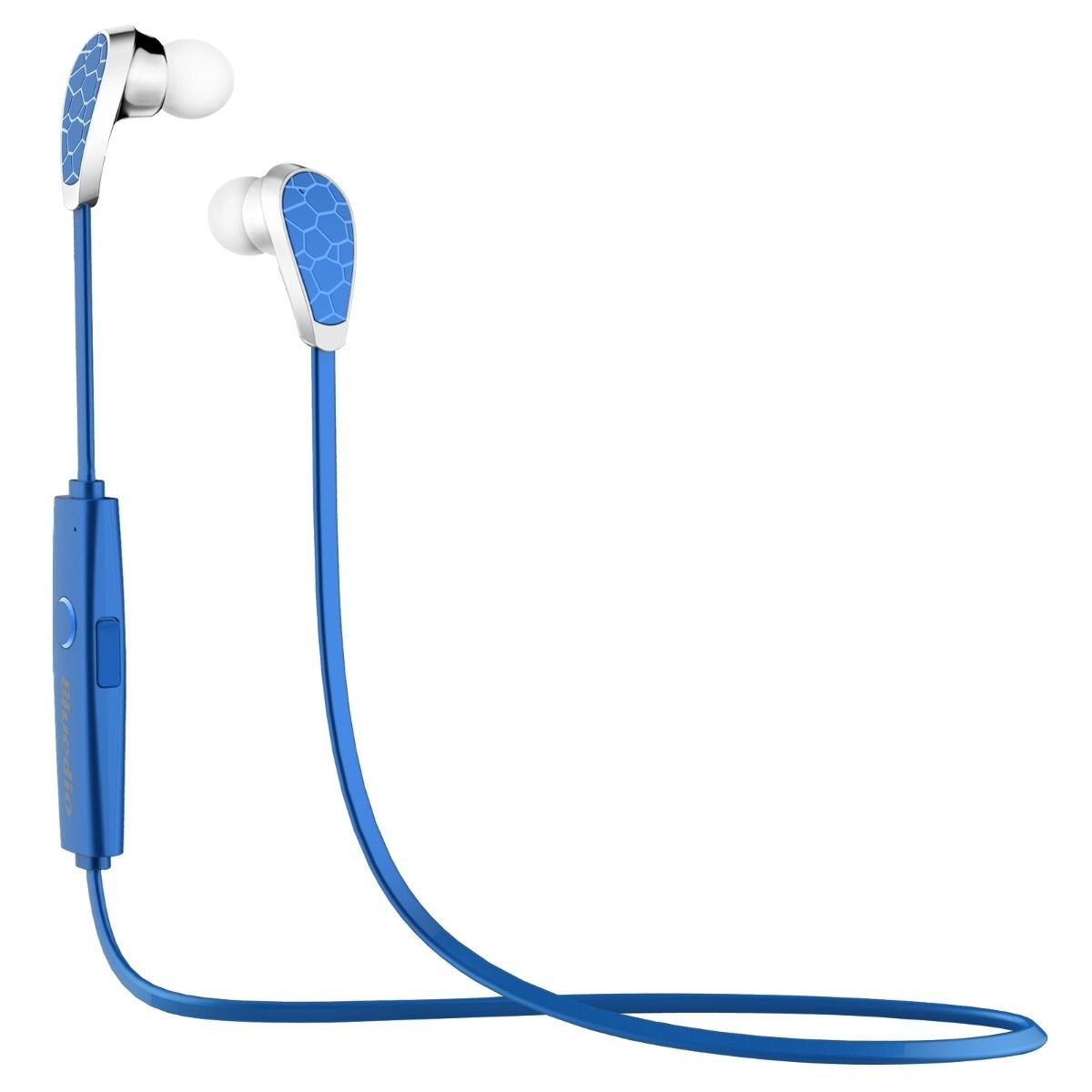 Blue Bluetooth 4.1 Wireless Stereo Earphone Handsfree Sport Headset for iPhone 5 5S 6 db