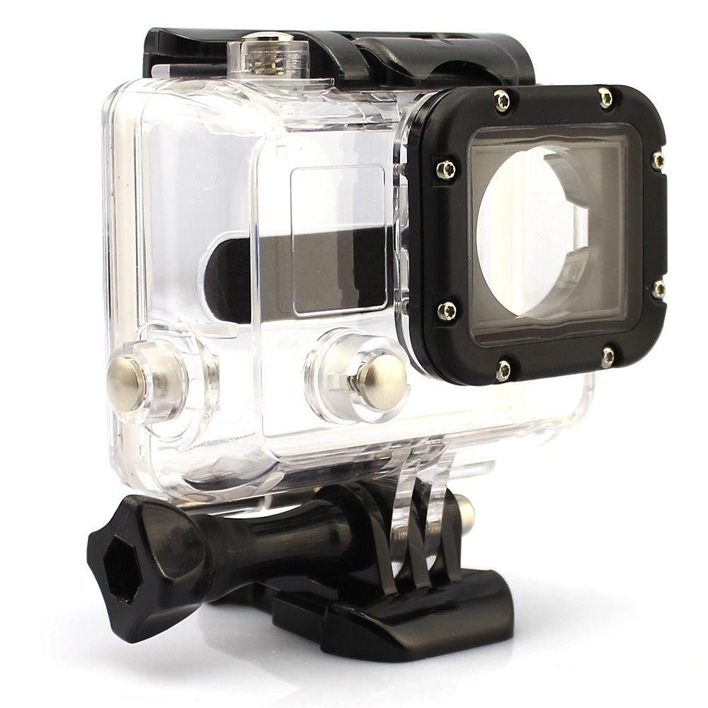 Clear Waterproof Dive Housing Case Skeleton W/ Lens For Gopro Hero 3 3+ 4 Camera db
