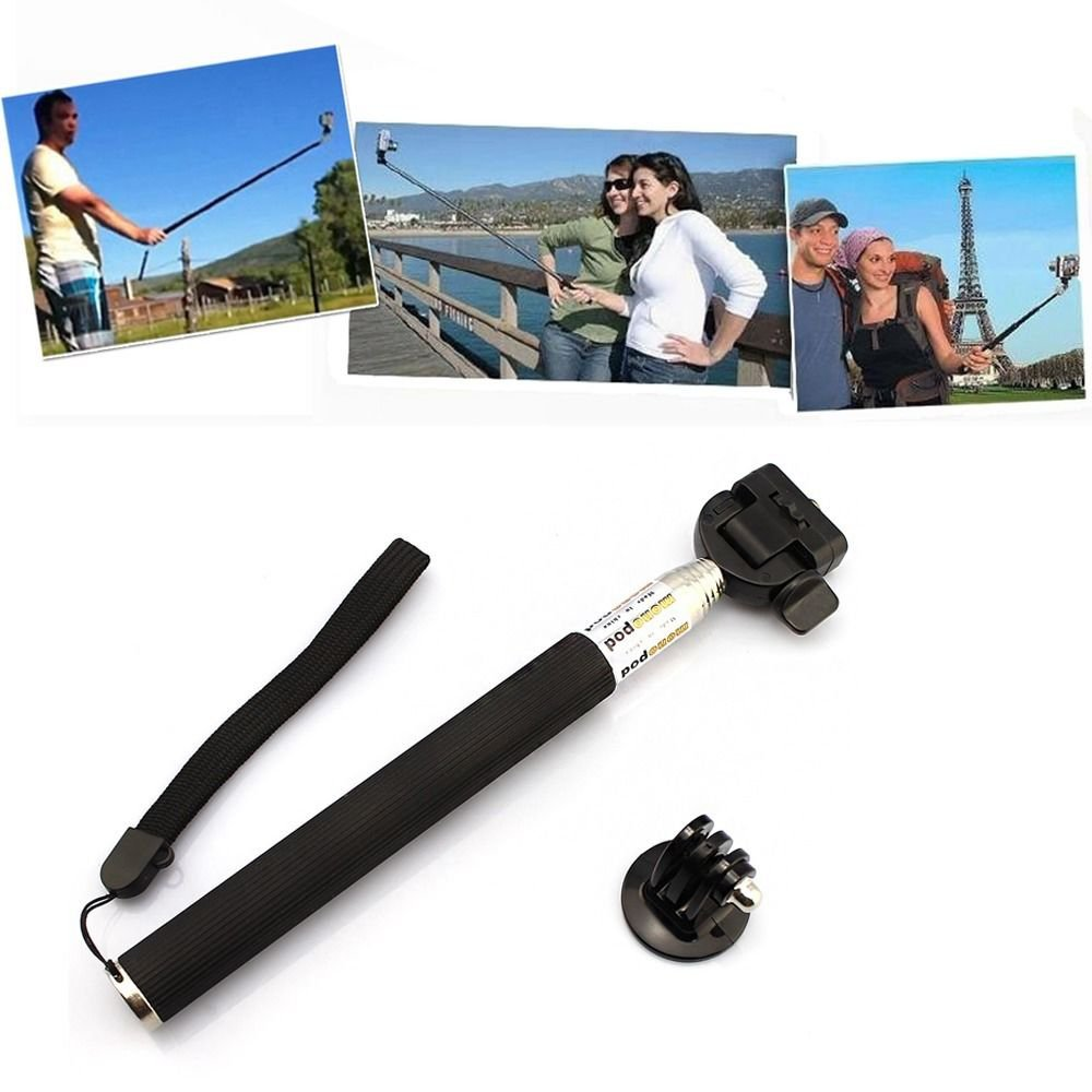 Handheld Monopod Selfie Pole + Tripod Mount for GoPro Hero HD 2 3 3+ SJ4000 F39 db