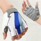 Size M Cycling Bicycle Bike Motorcycle Gel Silicone Half Finger Fingerless Gloves DB