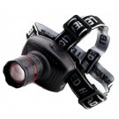 Super Power Red Zoomable CREE LED Headlight Flashlight Head Lamp 5W 160 Lumen DB