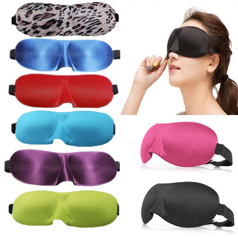 1 x Black Sleeping Travel Eye Mask Blindfold Test Relax Sleep Cover Eye Patch DB