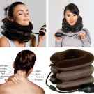 Neck Stretcher Pain Relief Shoulder Tension Back Traction Adjustable Inflatable DB