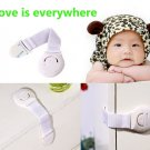 5pcs Cabinet Door Drawers Toilet Safety Plastic Lock For Child Kid baby safety DB