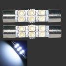 2×1.2W 50lm 6-SMD 1210 LED White Light 29mm Festoon Car Reading Lamp Bulb 12V DB
