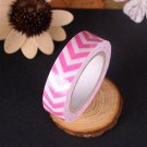 1 Roll Pink Washi Sticky Paper Masking Adhesive Decorative Tape Scrapbooking DB
