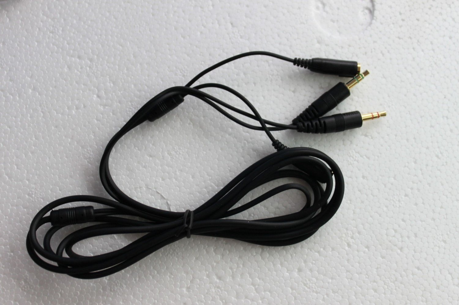 2M/6FT 3.5mm SteelSeries Siberia V2 Neckband Headset Extension Cable Black