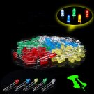 100Pcs 3mm LED Light 2PINs 5 Colors Assorted Kit DIY LED DB