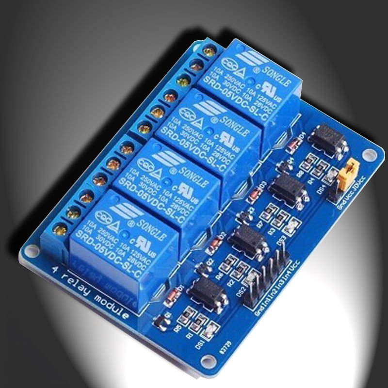 4 Channel 5V Indicator Light LED Relay Module For Arduino PIC AVR DSP ARM MCU db